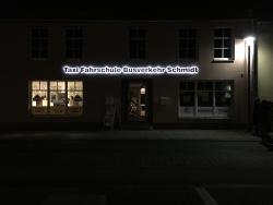 Taxi Fahrschule Busverkehr Schmidt-3D Buchstaben beleuchtet