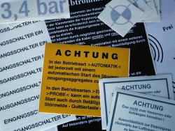 Finsterwalder Maschinen und Anlagenbau GmbH-verschiedene Aufkleber