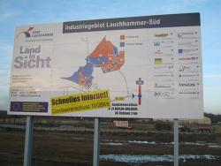 Stadtverwaltung Lauchhammer-Aluminiumverbund-Schild 8 x 4 m