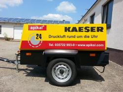 apikal Anlagenbau GmbH-Beschriftung Mobilkompressor