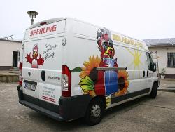 Sperling Wärmesysteme GmbH-Transporterbeschriftung Fiat Ducato