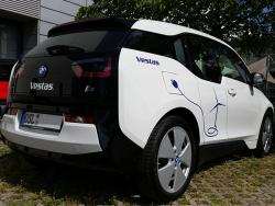 Vestas Lauchhammer-Fahrzeugbeschriftung Elektro-BMWi3