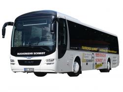Taxi Fahrschule Busverkehr Schmidt-Busbeschriftung