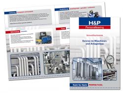 H & P GmbH-Faltflyer DIN A4, 4 Seiten