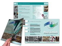PILZ GmbH-Faltflyer DIN A4, 4 Seiten