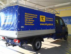 NTL Elektro-,Sicherheits-& Nachrichtentechnik GmbH-Fahrzeugbeschriftung VW Crafter Pritsche