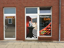 """HeKo-Automaten GmbH-Außenwerbung """"Raucher-Cafe"""" Schwarzheide"""