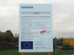 Vestas Lauchhammer-Bauschild