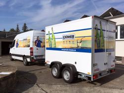 Getränke Schönherr-Transporter- und Anhängerbeschriftung