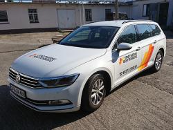Stadtwerke Senftenberg GmbH-Fahrzeugbeschriftung VW Passat