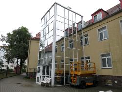 DRK-Kreisverband Senftenberg e.V.-Sonnenschutzfolie für Treppenturm