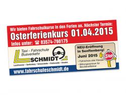 Taxi Fahrschule Busverkehr Schmidt-Anzeige für WochenKurier
